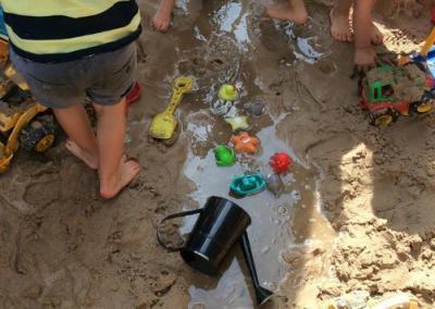 sand at Pre-School JJs Kiddycare